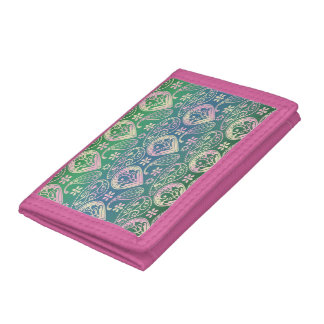 Multi Colored Paisley Tri-fold Wallet