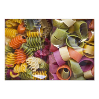 Multi colored pasta, Torri del Benaco, Verona Photo Print