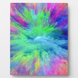 Multi Colored Plaque
