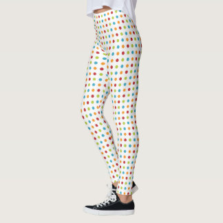 Multi-colored Polka Dot Leggings
