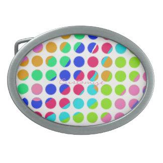 multi-colored polka dots belt buckle