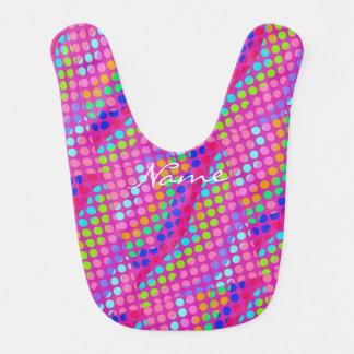 multi-colored polka dots Thunder_Cove Bib