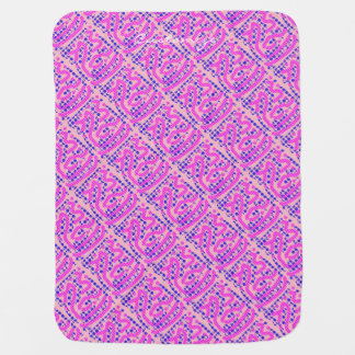 multi-colored polka dots Thunder_Cove diamonds Baby Blanket