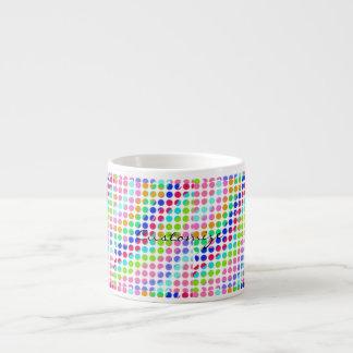 multi-colored polka dots Thunder_Cove Espresso Cup