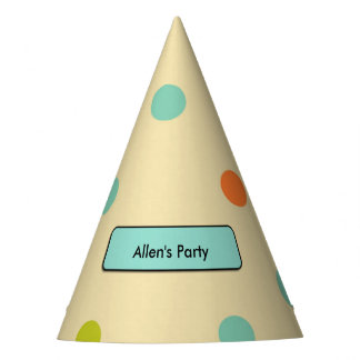 Multi-Colored Polka Dotted Party Hat