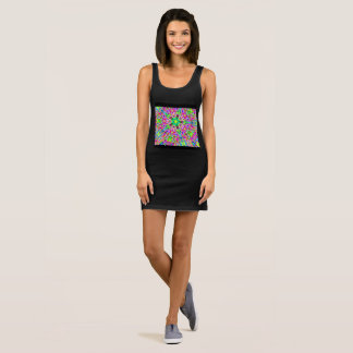 multi-colored polygons Thunder_Cove Sleeveless Dress