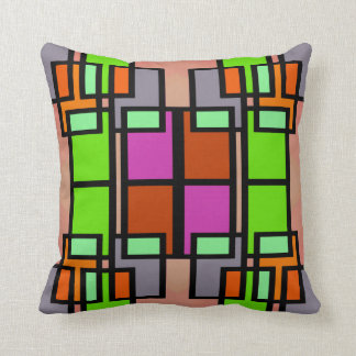 Multi-colored Rectangles Pattern Pillow--Home Throw Pillow