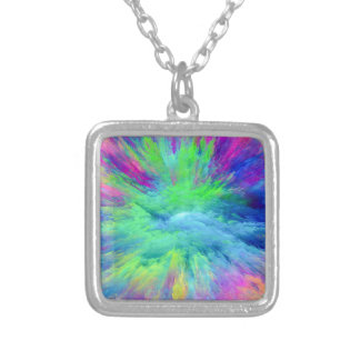 Multi Colored Silver Plated Necklace