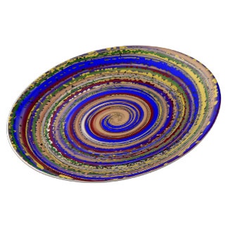 Multi-colored Spiral Of Joy Plate