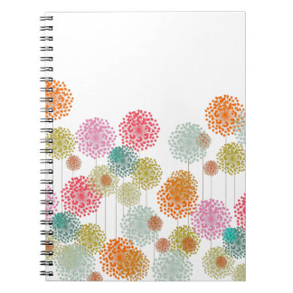 Multi-Colored Springtime Fluffies Spiral Notebook