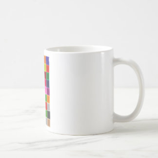 Multi Colored Squares and Stripes Girly Coffee Mug