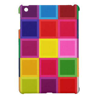 Multi Colored Squares and Stripes Girly iPad Mini Cases