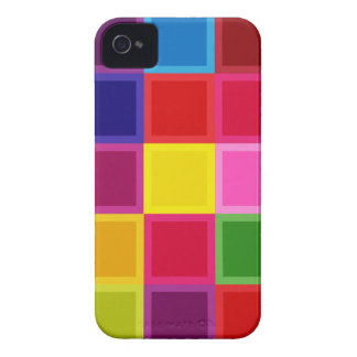Multi Colored Squares and Stripes Girly iPhone 4 Cases