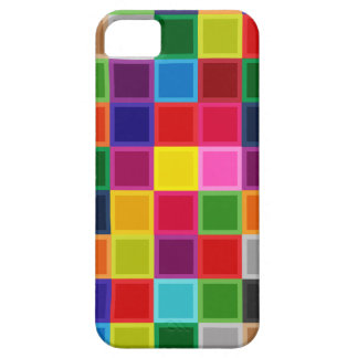 Multi Colored Squares and Stripes Girly iPhone 5 Covers