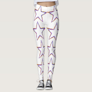 Multi-Colored Star Leggings