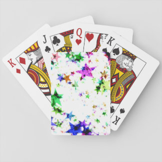 Multi Colored Stars Playing Cards