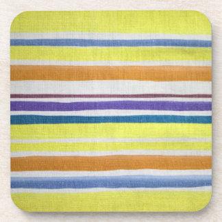 Multi-colored Stripes Cork Coaster