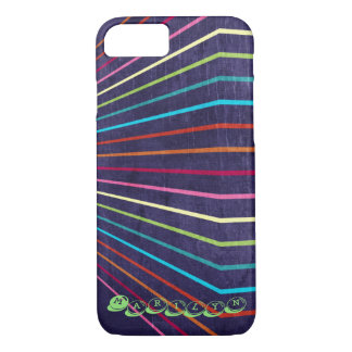 Multi-Colored Stripes on Purple iPhone 7 Case