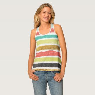 Multi-colored stripes, racerback tank top