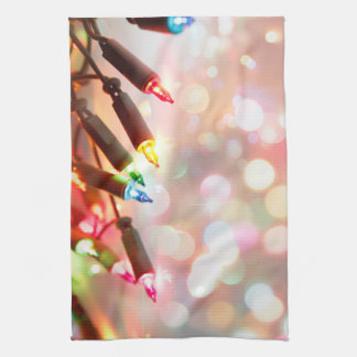 Multi-colored Twinkle Lights Christmas kitchen Kitchen Towel