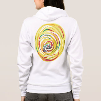 Multi-Colored Watercolor Womens Hoodie