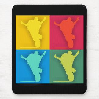 Multi-colored wheelie mouse pad
