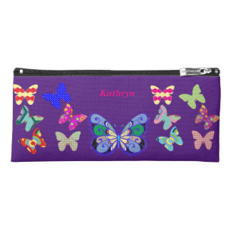 Multi Colorful Butterfly Pencil Case for School
