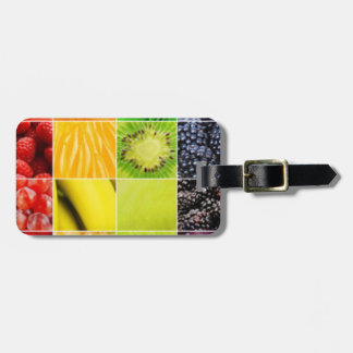 Multi Colorful  Fruit Collage Luggage Tag