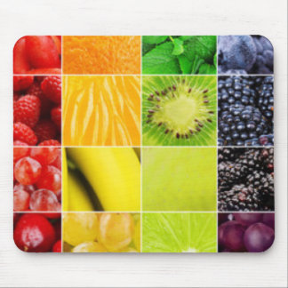 Multi Colorful  Fruit Collage Mouse Pad