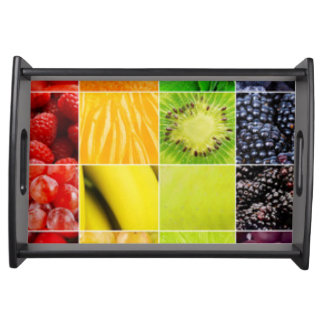 Multi Colorful  Fruit Collage Serving Tray