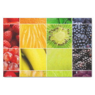Multi Colorful  Fruit Collage Tissue Paper