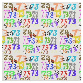 Multi-colors 73 Ham Radio Fabric