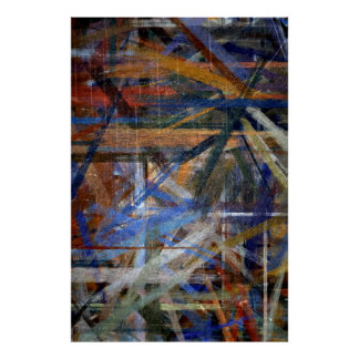 Multi Colors Abstract Art Painting 2 Poster