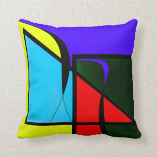 Multi Colors Throw Pillow