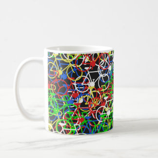 Multi Colour Bicycle mug