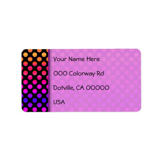 Multi-colour Dots Label