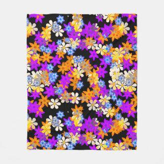 Multi Colour Flower Design Fleece Blanket