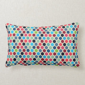 Multi-Colour Geometric Pattern Lumbar Pillow