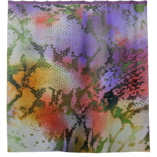 Multi-Colour Pastel Design Shower Curtain