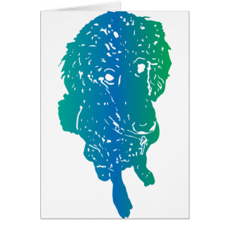 Multi-Colour Poodle Love Card w/Custom Message!