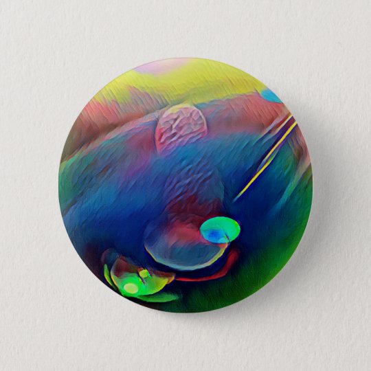 Multi+Colour Universe Abstract Alien Worlds 2 Inch Round Button