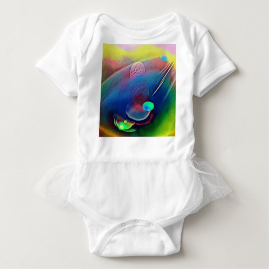 Multi+Colour Universe Abstract Alien Worlds Baby Bodysuit