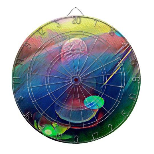 Multi+Colour Universe Abstract Alien Worlds Dartboard