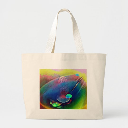 Multi+Colour Universe Abstract Alien Worlds Large Tote Bag