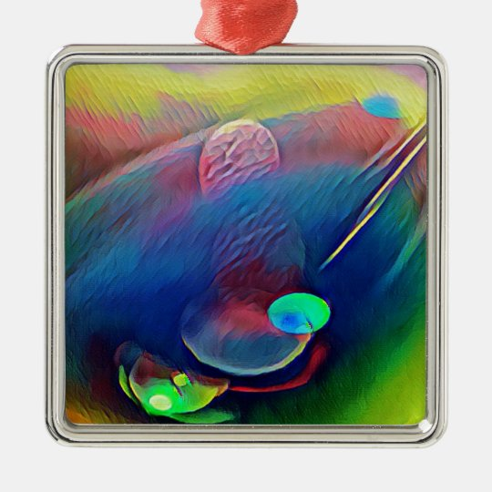 Multi+Colour Universe Abstract Alien Worlds Metal Ornament