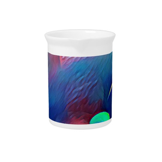 Multi+Colour Universe Abstract Alien Worlds Pitcher