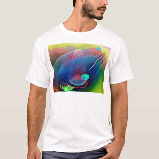 Multi+Colour Universe Abstract Alien Worlds T-Shirt