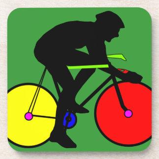 Multi Coloured Bike Bicycle Beverage Coasters