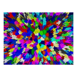 Multi-Coloured Crystals Pattern Print