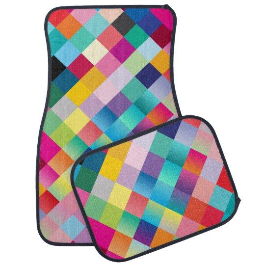 """""""Multi Coloured Design"""" Car Floor Carpet"""